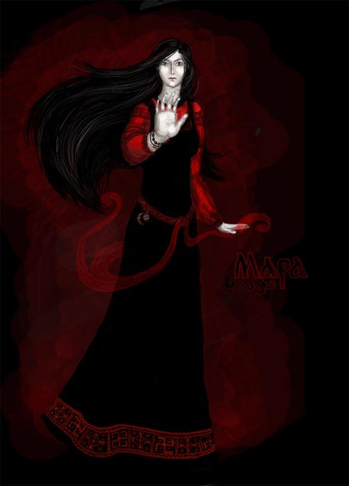 Марена (морана, мара) богиня смерти, жена чернобога